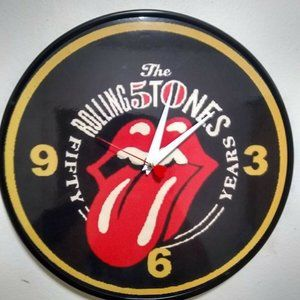 THE ROLLING STONES 50 YEARS - 12 INCH WALL CLOCK